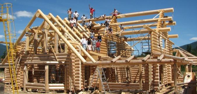 brunarica, gradnja, lesena konstrukcija, lesena hiša, okrogla bruna,, lesena gradnja, naravna gradnja, gradnja z naravnimi materiali