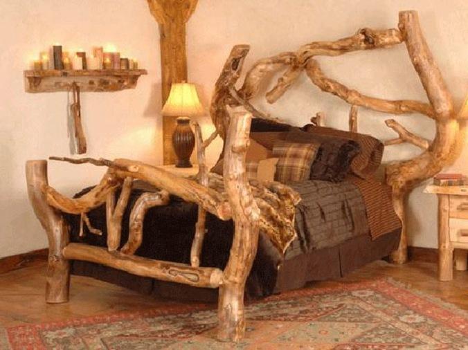 lesena postelja, design, lesena hiša, naravni interierij, naravna oprema, leseno pohištvo, naravna gradnja, gradnja z naravnimi materiali