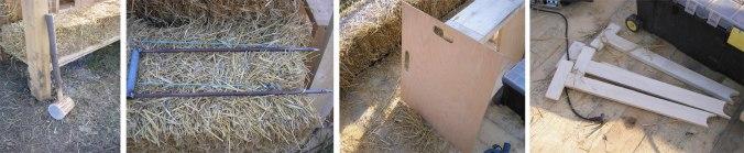 orodje pri hiši iz slame, hiša iz slame, naravna gradnja, gradnja z naravnimi materiali