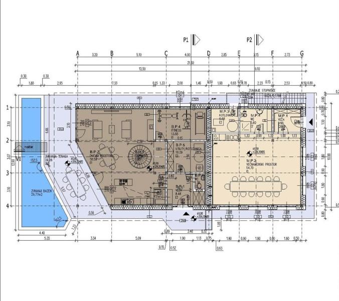 tloris, hiša naravna gradnja, pgd, projekt, naravna gradnja, gradnja z naravnimi materiali,