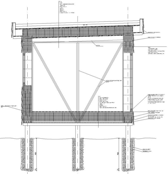 hiša iz slame, prerez, hiša iz slamnatih bal, slamnate bale, detajli, naravna gradnja, gradnja z naravnimi materialinate bale, detajli, naravna gradnja, gradnja z naravnimi materiali