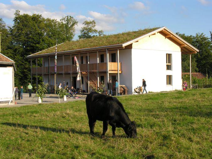 hiša iz slame, zelena streha, samonosna slamnata konstrukcija, naravna gradnja, hiša iz slame, slamnata hiša, naravna hiša, gradnja z naravnimi materiali